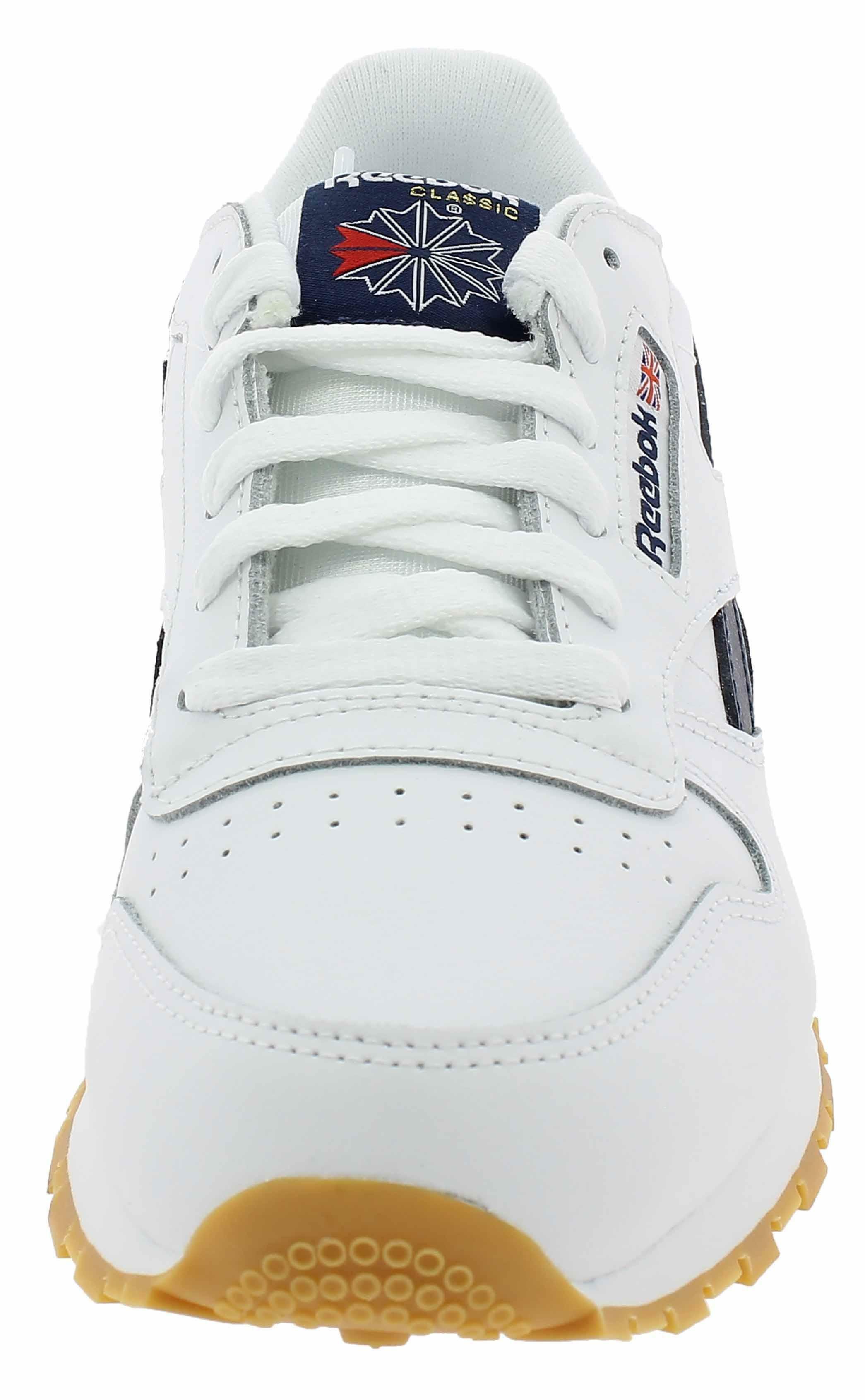 reebok classic leather scarpe sportive bambino bianche dv4567