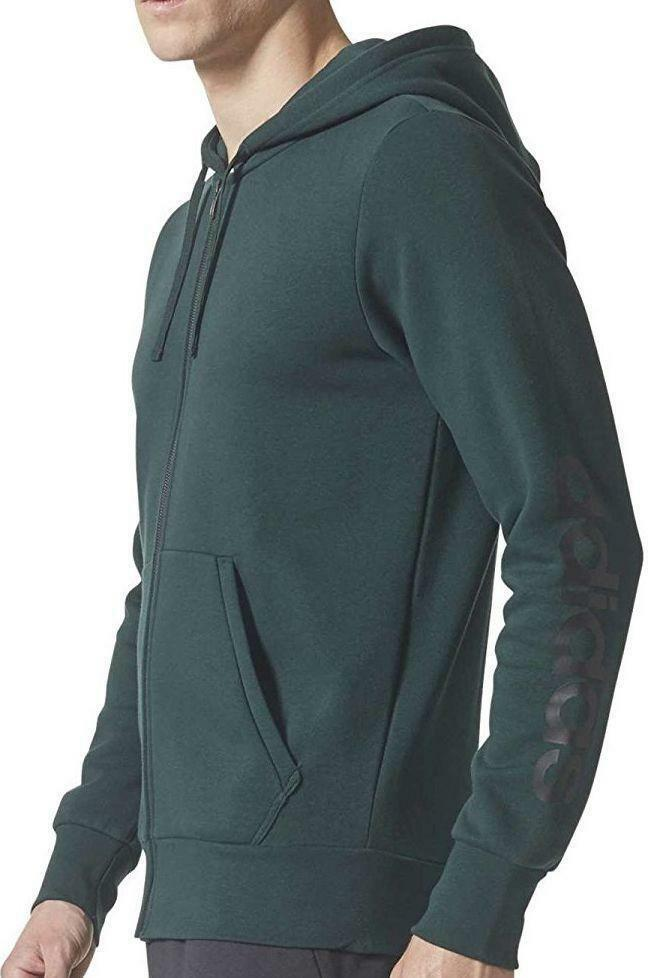 adidas adidas ess lin giacchetto uomo verde bs2219