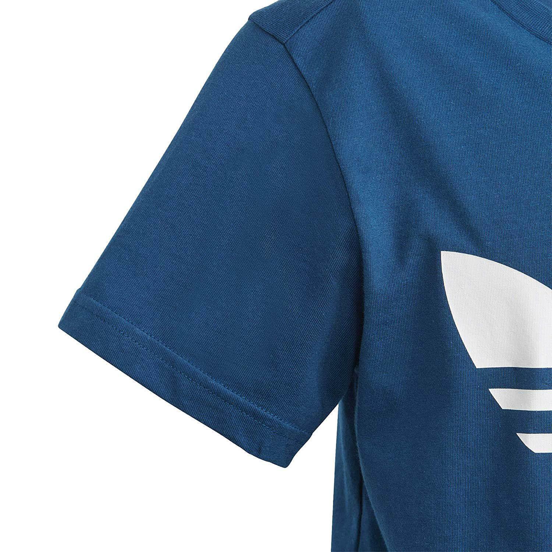 adidas trefoil tee t-shirt bambino blu dv2906
