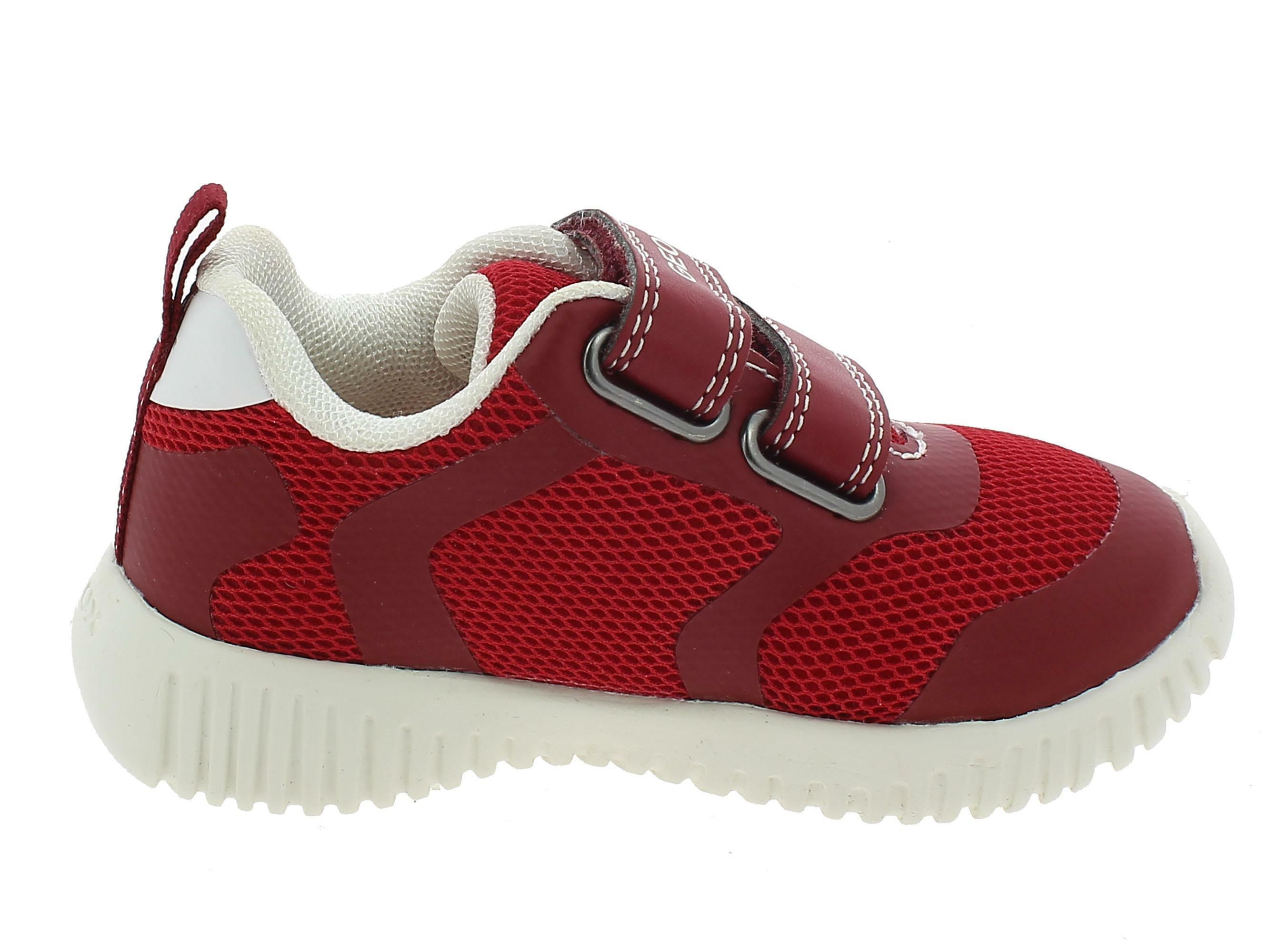 geox b waviness b scarpe sportive bambino rosse b922bac0003