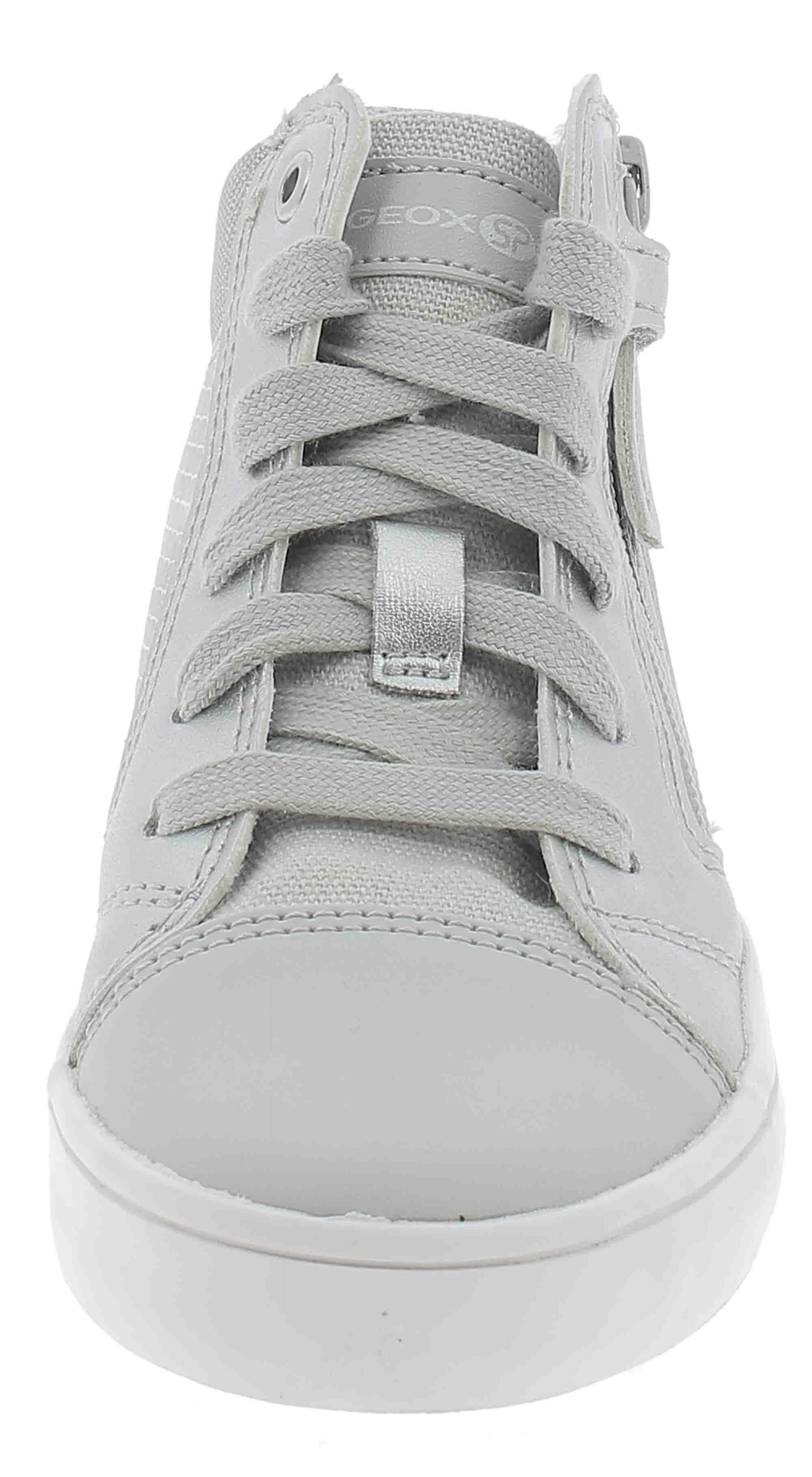 geox j gisli scarpe sportive bambina argento j924nec0434