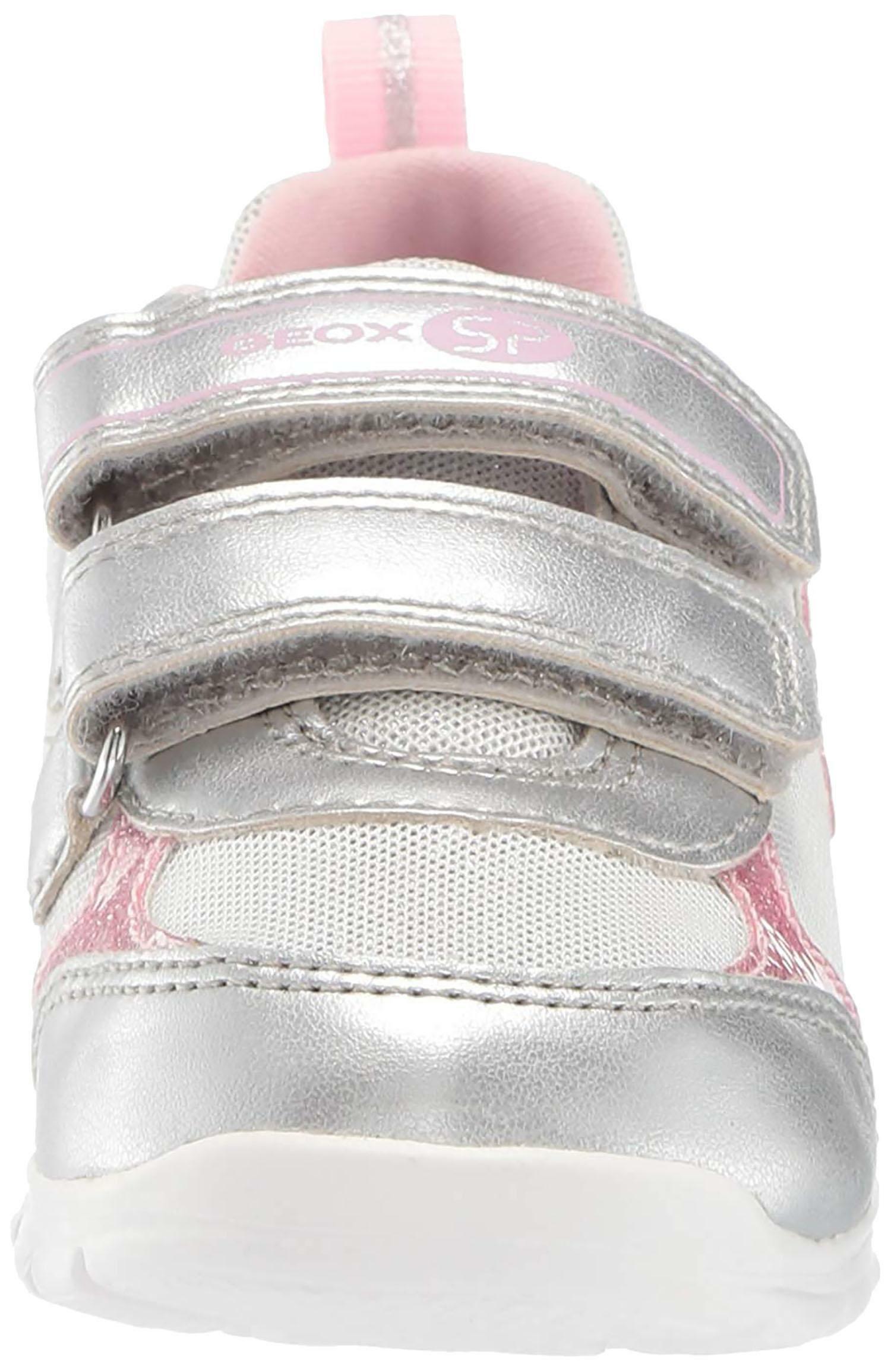 geox b runner g scarpe sportive bambina argento b92h8bc0007