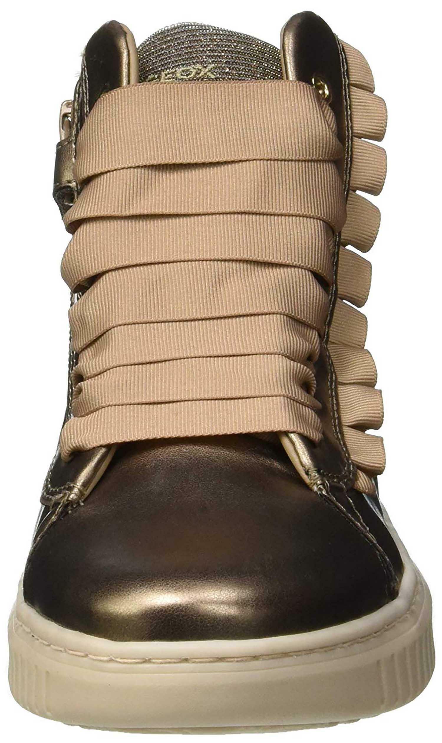 geox j discomix scarpe sportive bambina oro j847yac9003