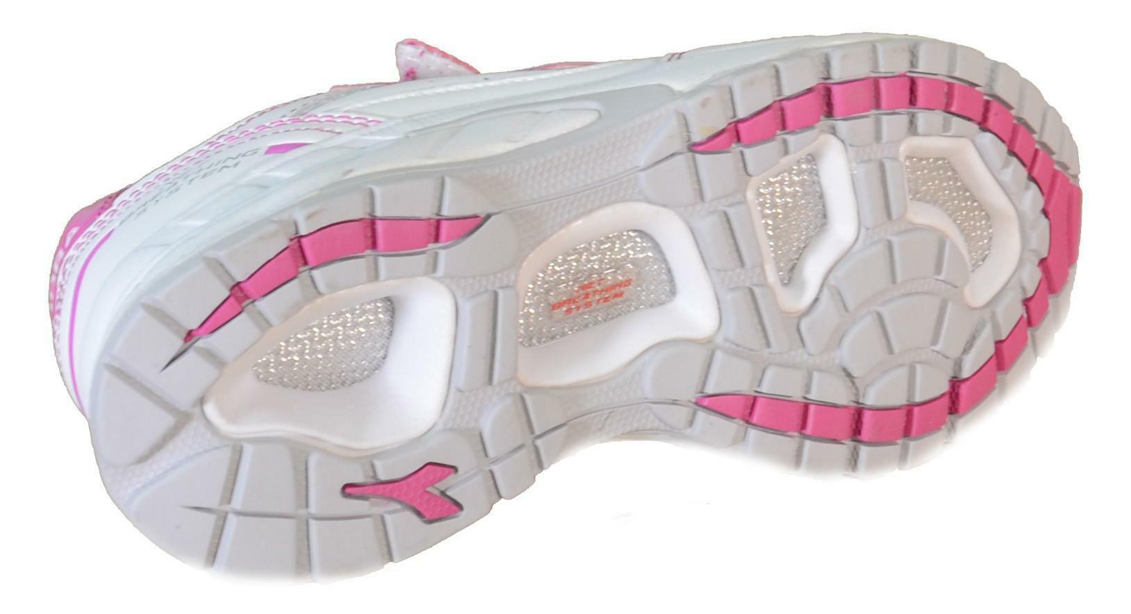 diadora diadora scarpe sportive bambina bianche pelle strappi 158409