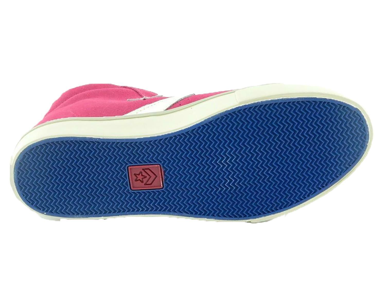 converse converse pro leather scarpe sneakers donna bambina alte hi fuxia