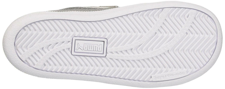 eb1f8e1dc8b803 Puma Smash Glitz Glamm V Girls Sports Shoes Grey 36295706