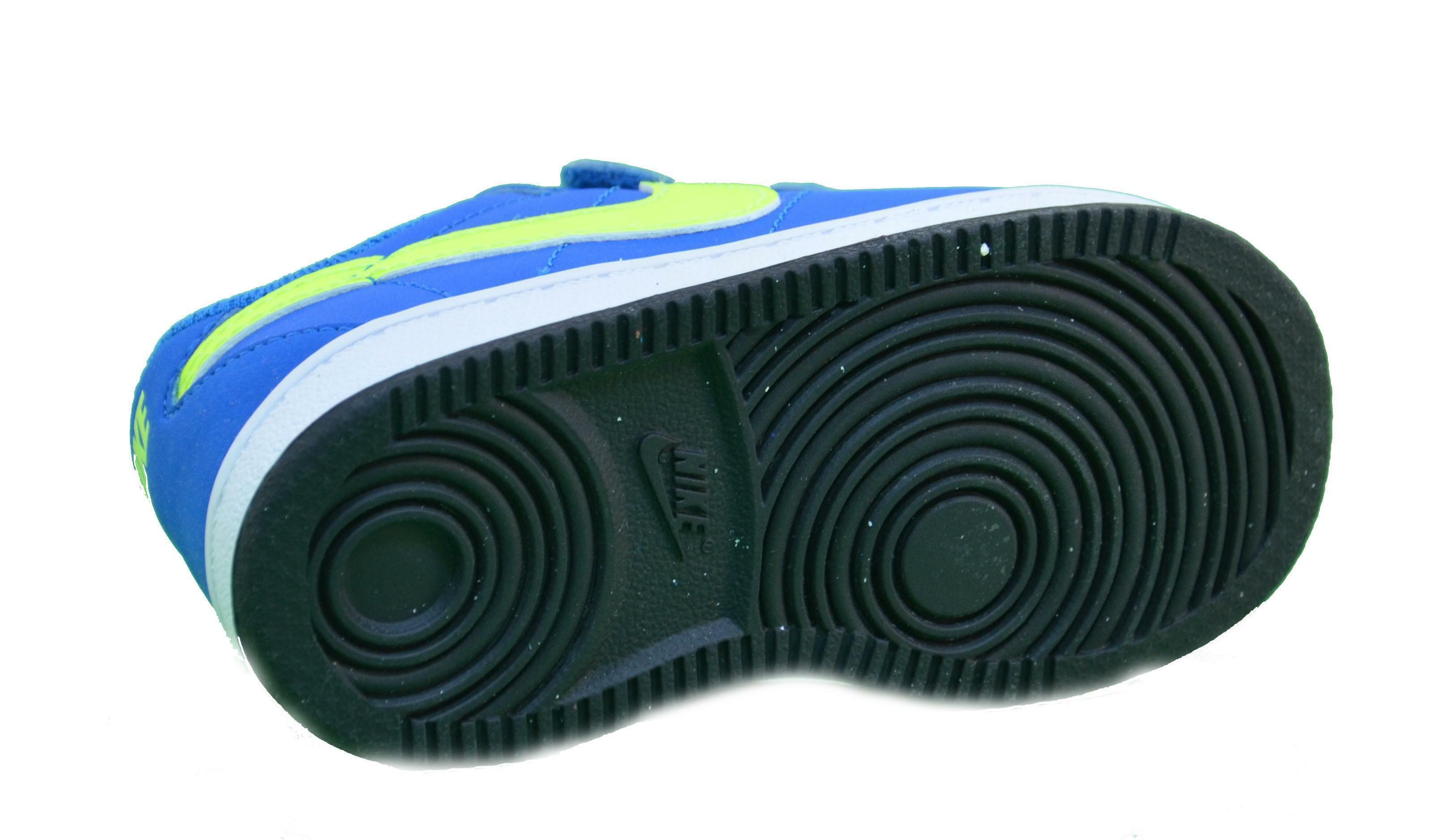 nike brutez plus (td) scarpe sportive bambino pelle azzurre strappi 535450