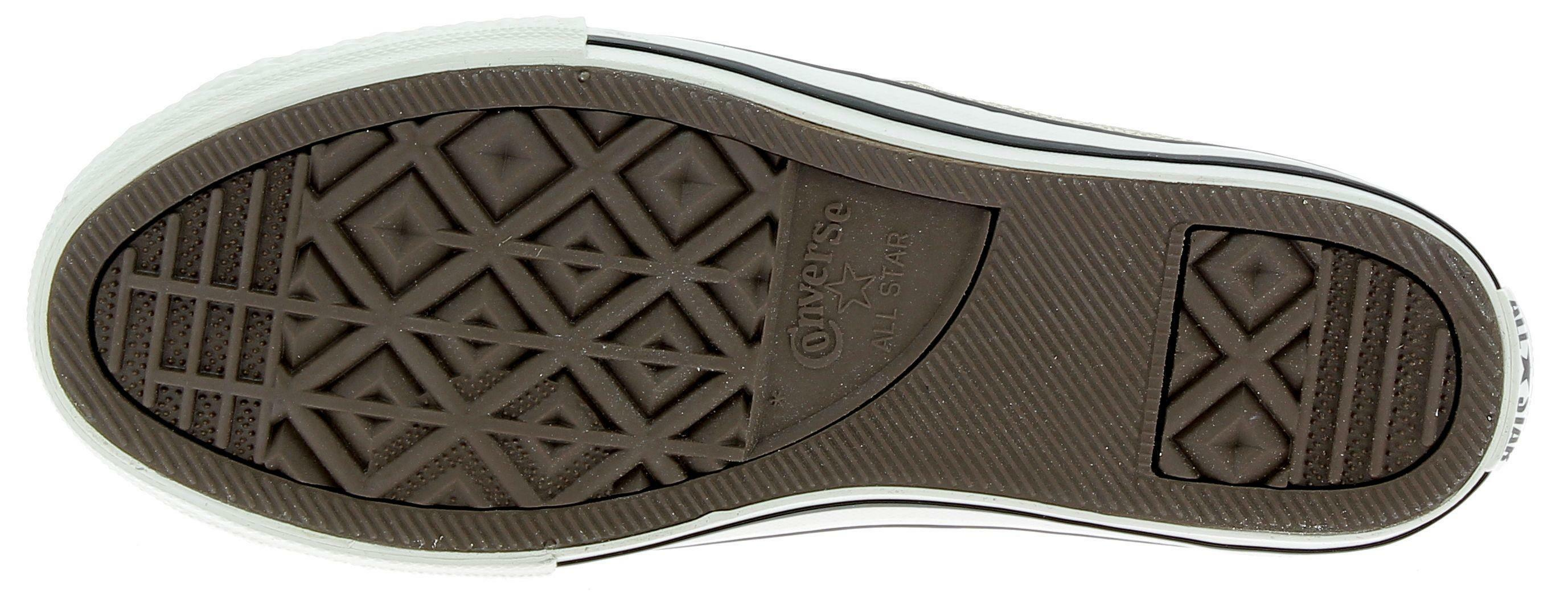 converse converse ctas side zip s scarpe sportive pelle bianche e oro