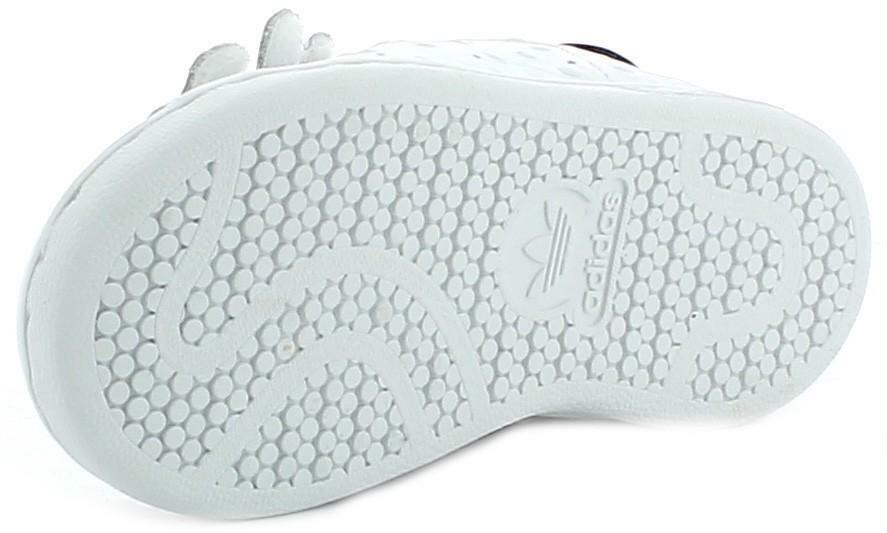 adidas adidas stan smith cf c scarpe sportive bambino/a bianche pelle strappo s78755
