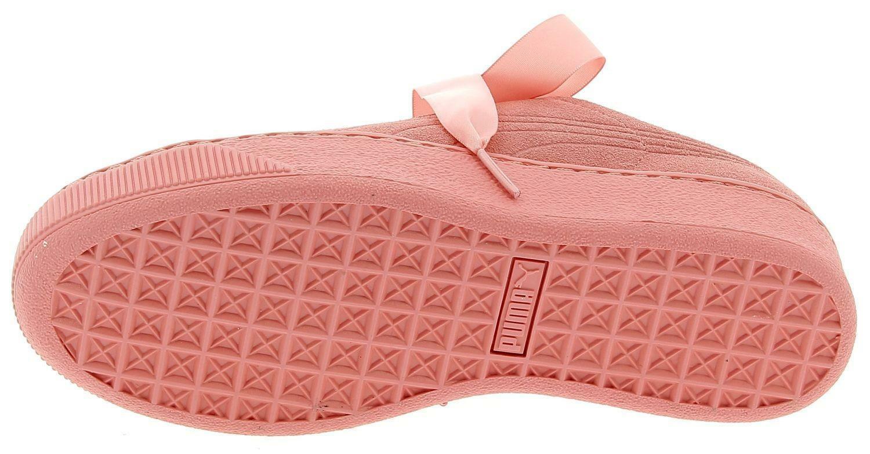 puma puma vikky platform ribbon s scarpe sportive rosa donna 36641803