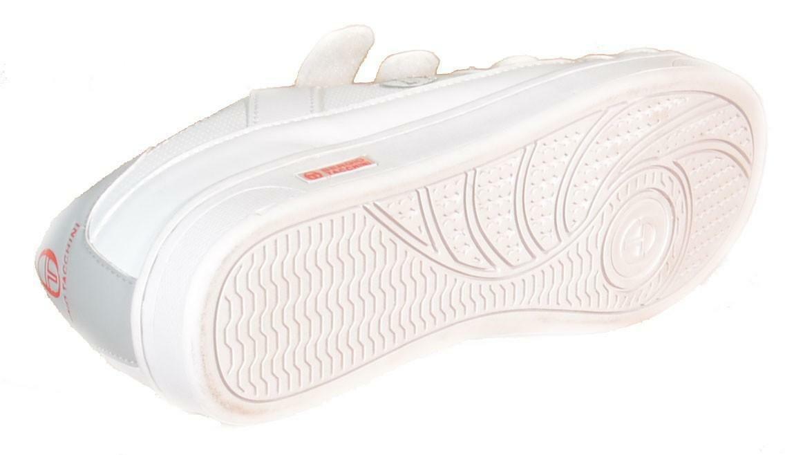 tacchini sergio  scarpe sportive donna bianche pelle strappi centurion