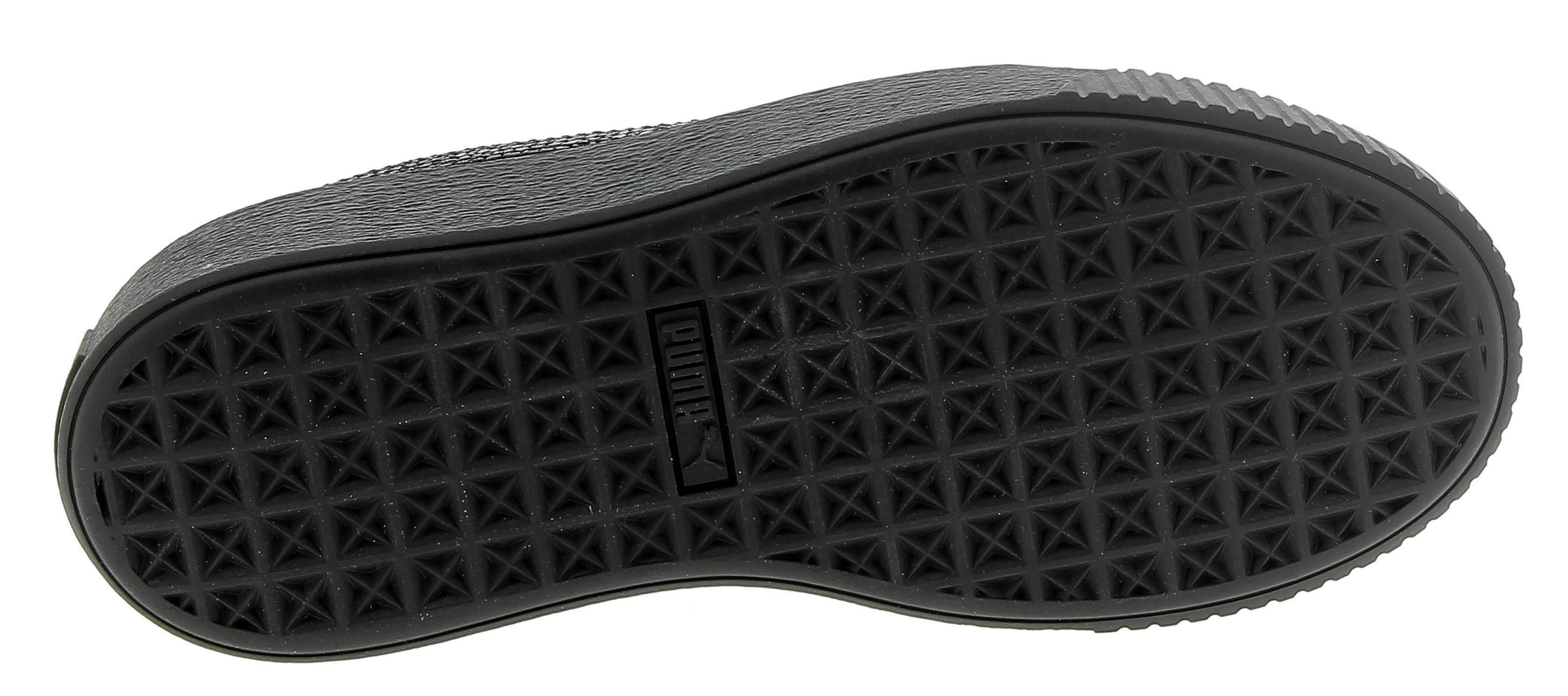 Puma basket platform scarpe sportive donna nere 36785002