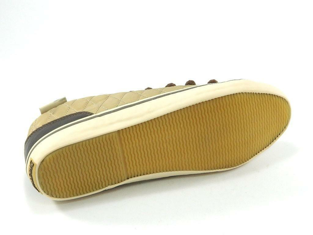 spalding spalding scarpe vintage net quilted nylon beige