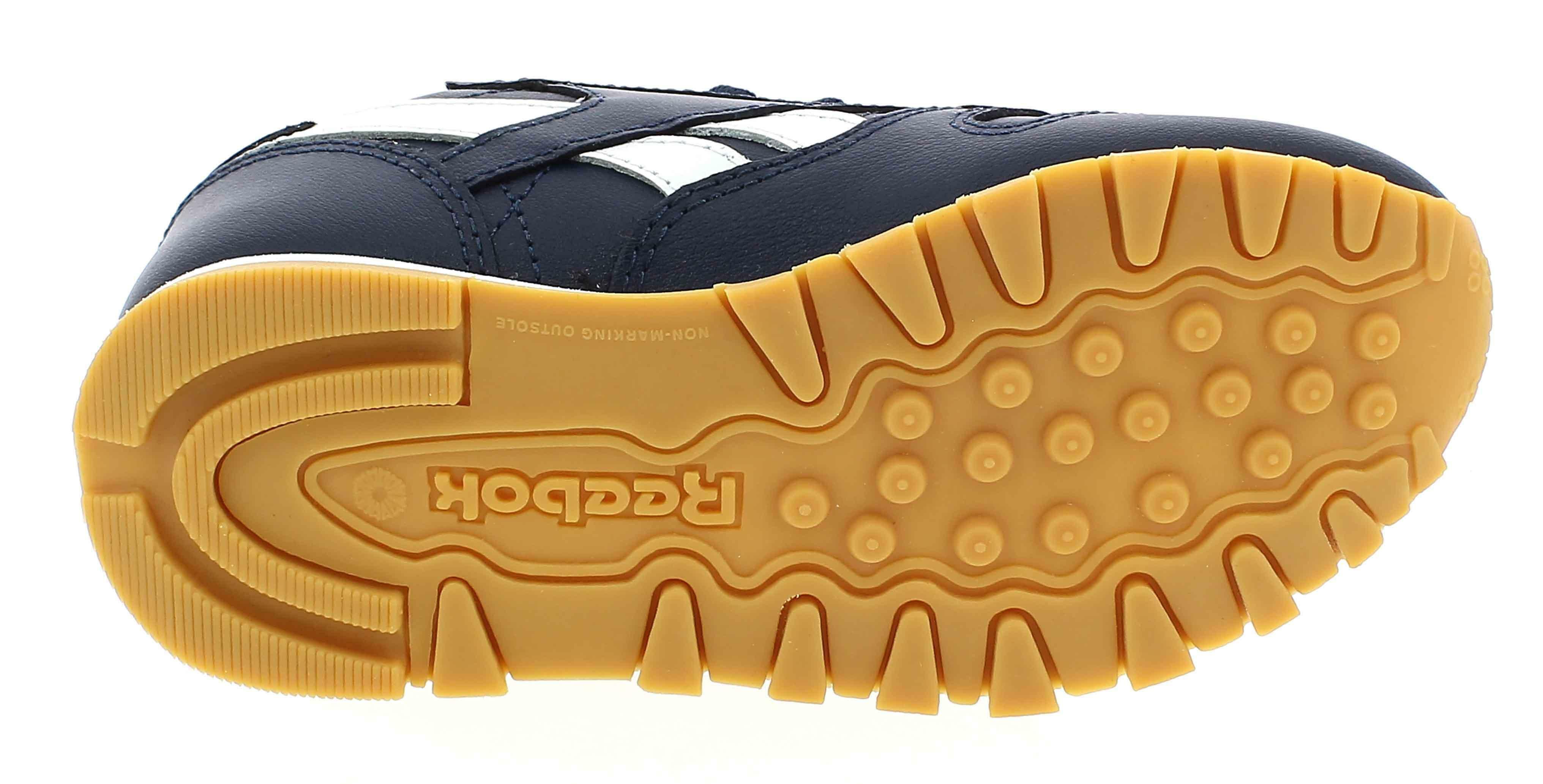 reebok classic leather scarpe sportive bambino blu dv4572