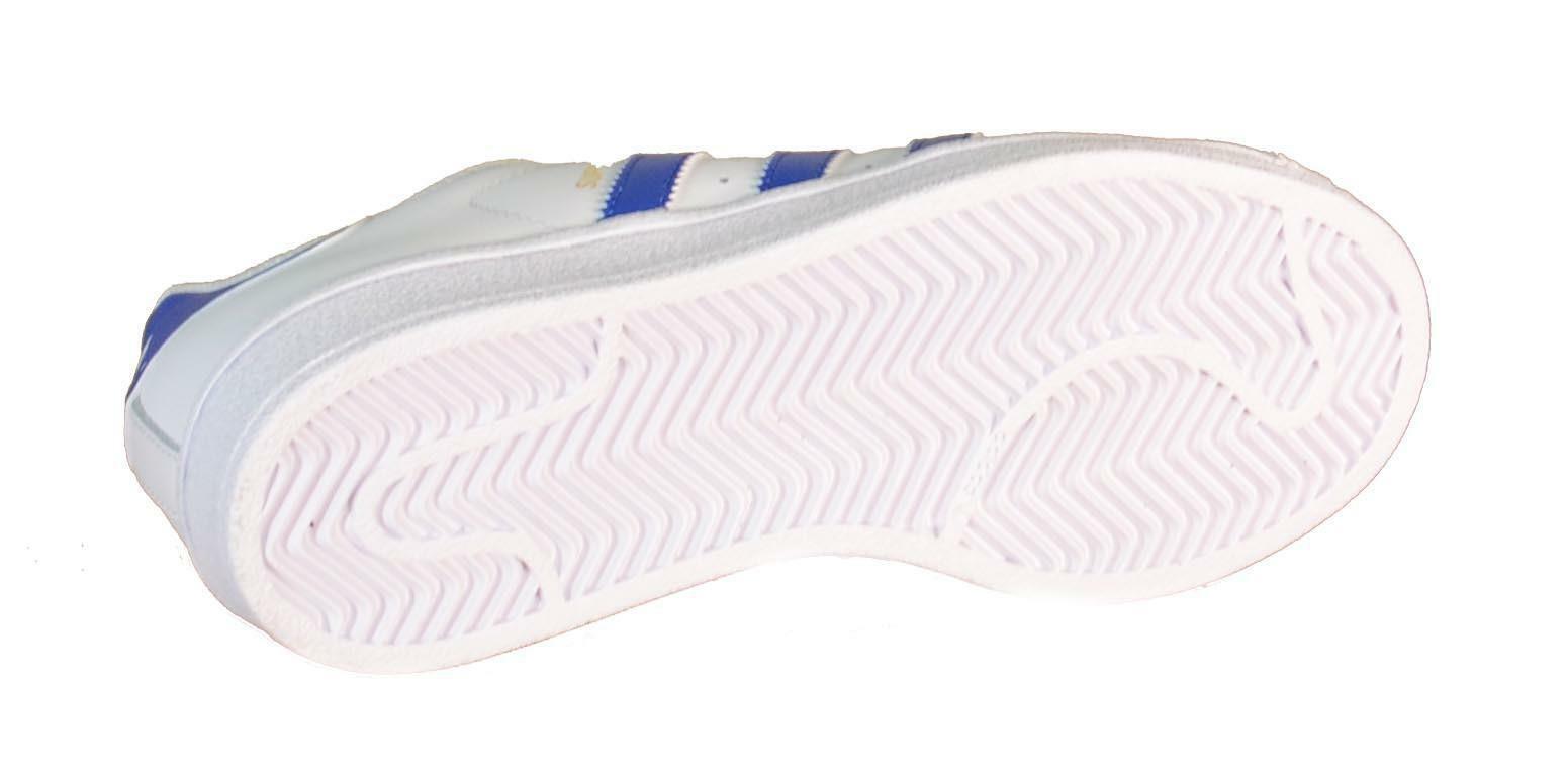 adidas adidas superstar foundation j scarpe sportive donna bianche blu s74944