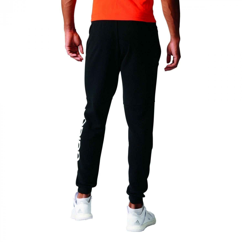 adidas adidas pantaloni tuta cotone garzato neri bq9090