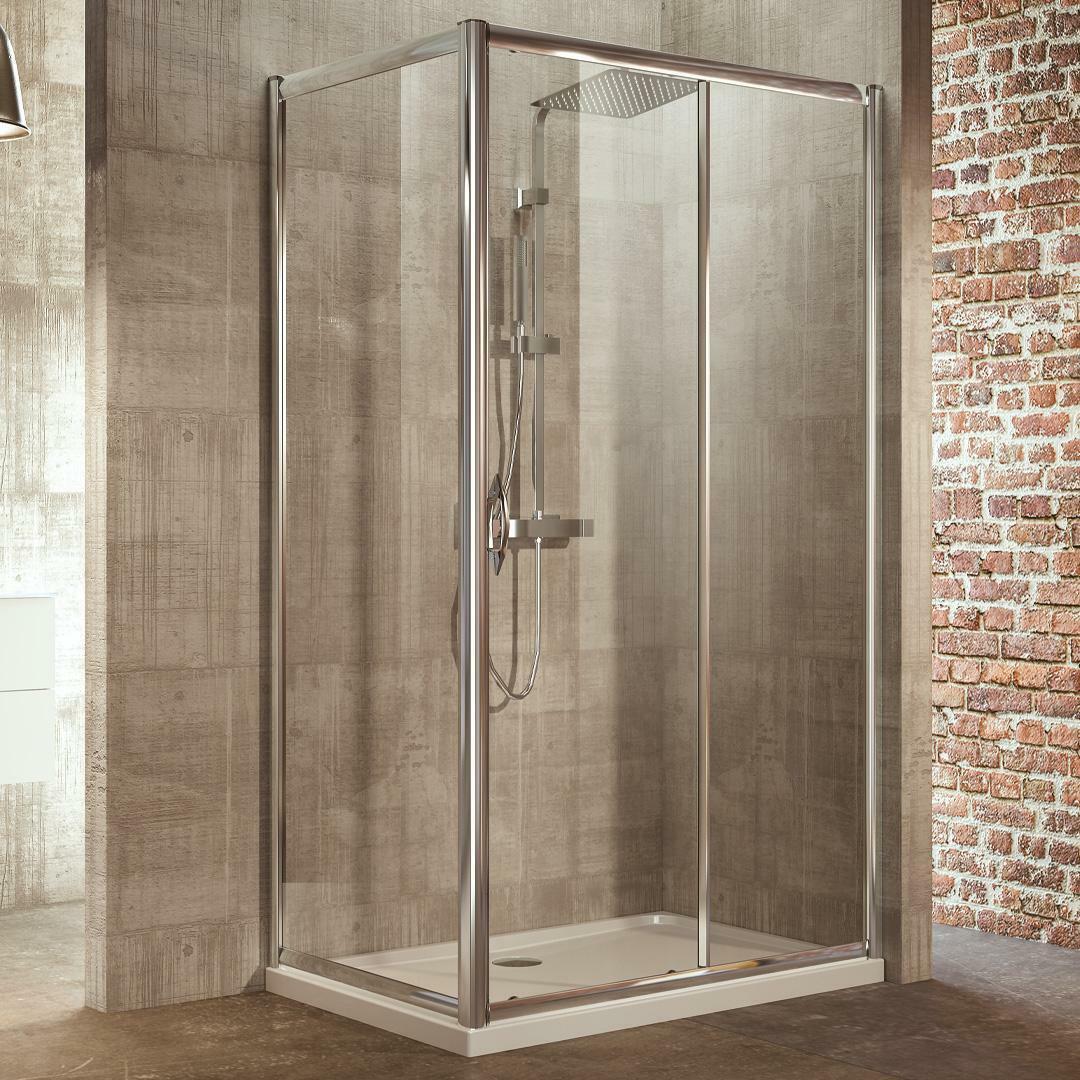 specialisti del bagno box doccia malaga porta scorrevole e lato fisso 80x90 reversibile trasp. specialistidelbagno