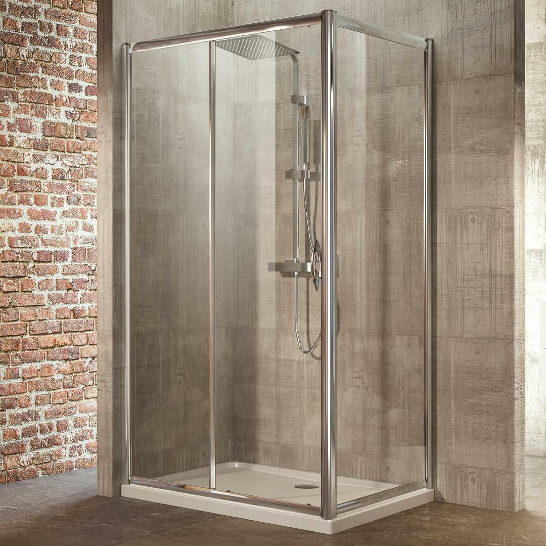 specialisti del bagno box doccia malaga porta scorrevole e lato fisso 90x120 reversibile trasp. specialistidelbagno