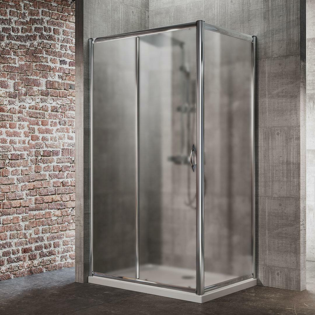 specialisti del bagno box doccia malaga porta scorrevole e lato fisso 70x110 reversibile crepé specialistidelbagno