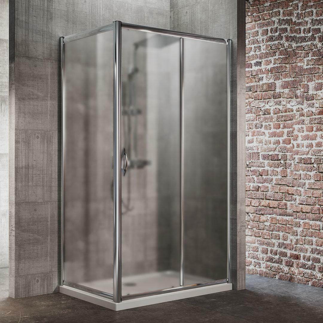 specialisti del bagno box doccia malaga porta scorrevole e lato fisso 80x130 reversibile crepé specialistidelbagno