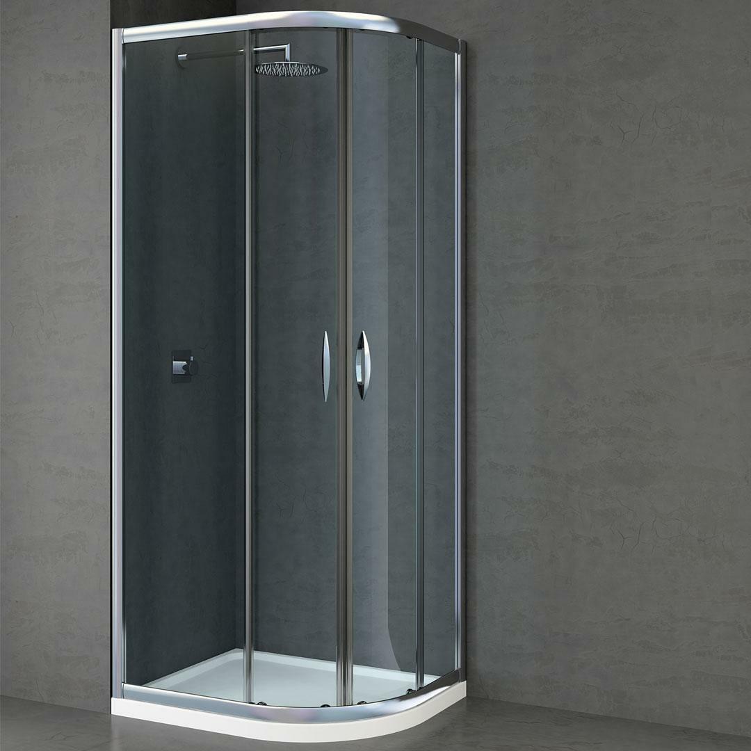specialisti del bagno box doccia malaga scorrevole semicircolare 90x90 reversibile trasp. specialistidelbagno