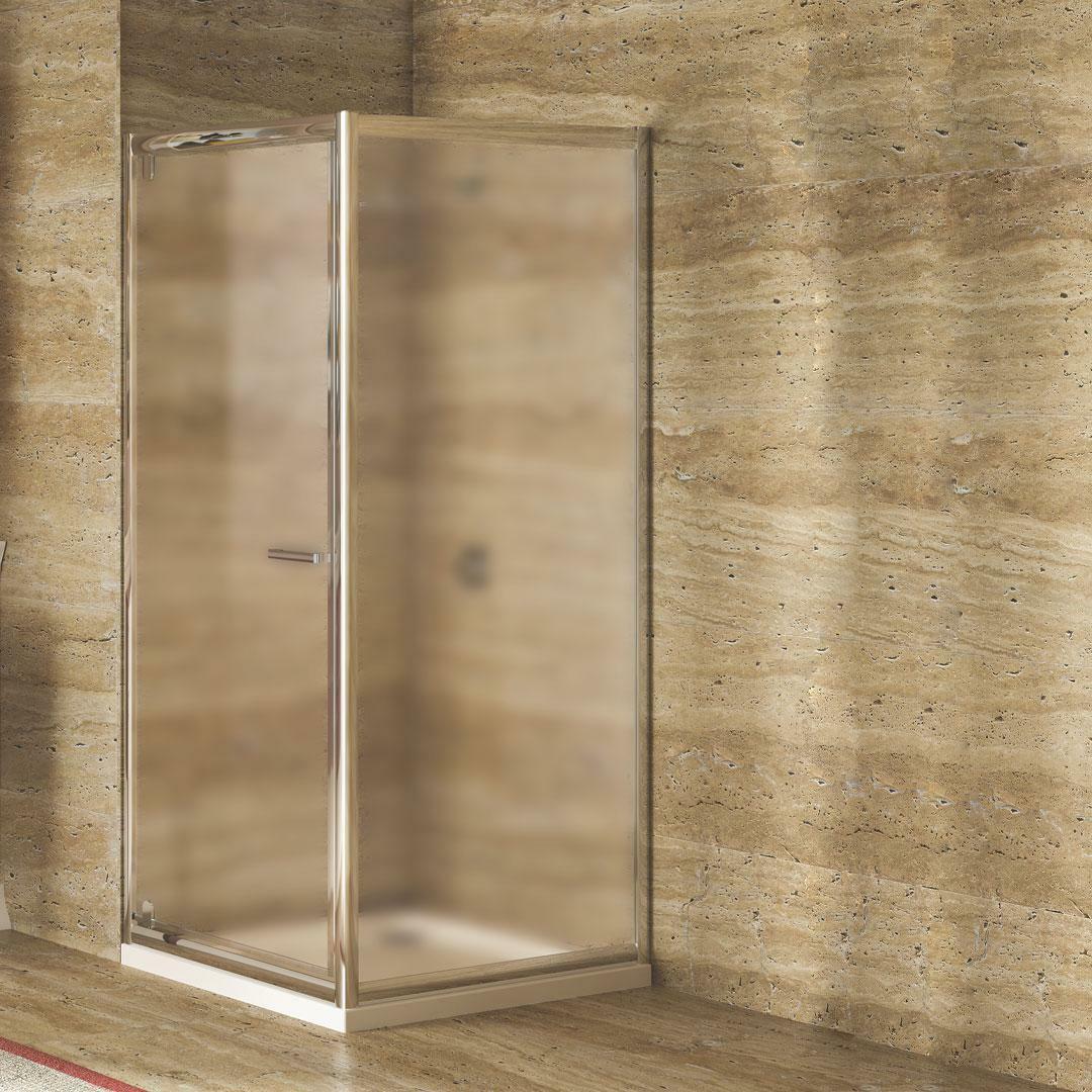 specialisti del bagno box doccia lepanto porta battente e lato fisso 90x90 reversibile crepé specialistidelbagno