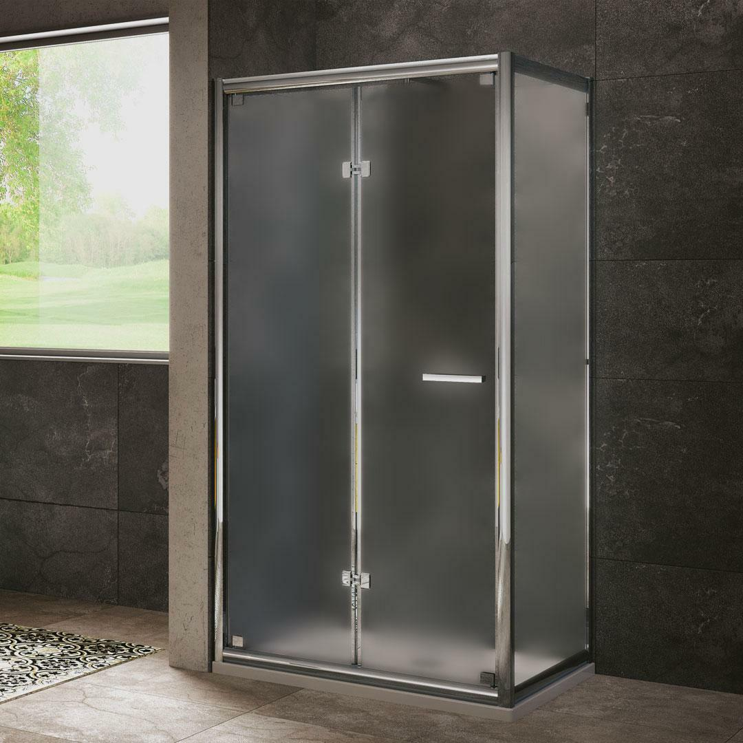 specialisti del bagno box doccia cipro porta libro e lato fisso 90x90 reversibile crepé specialistidelbagno