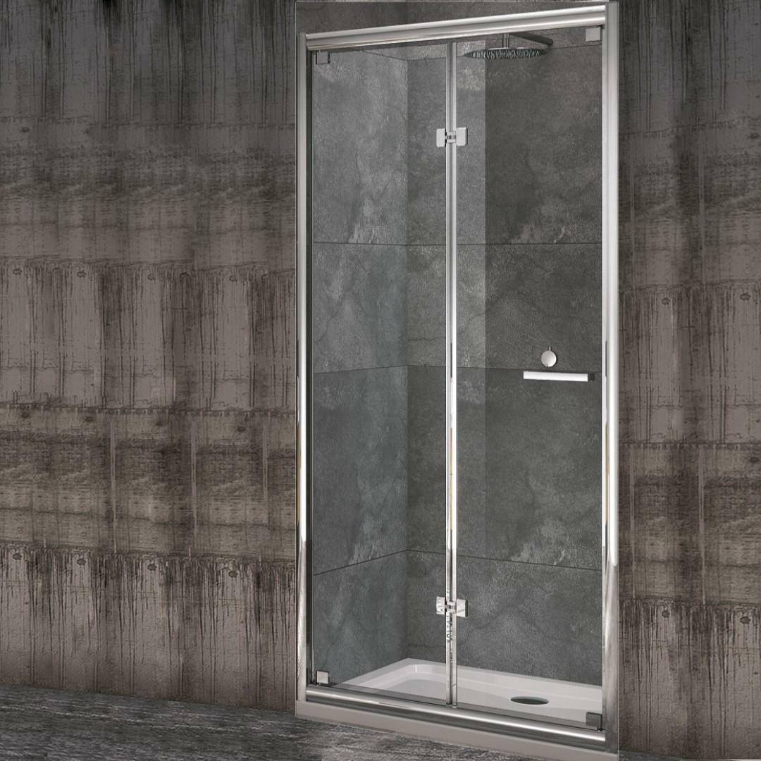 specialisti del bagno box doccia cipro porta libro a nicchia 105 reversibile trasp. specialistidelbagno