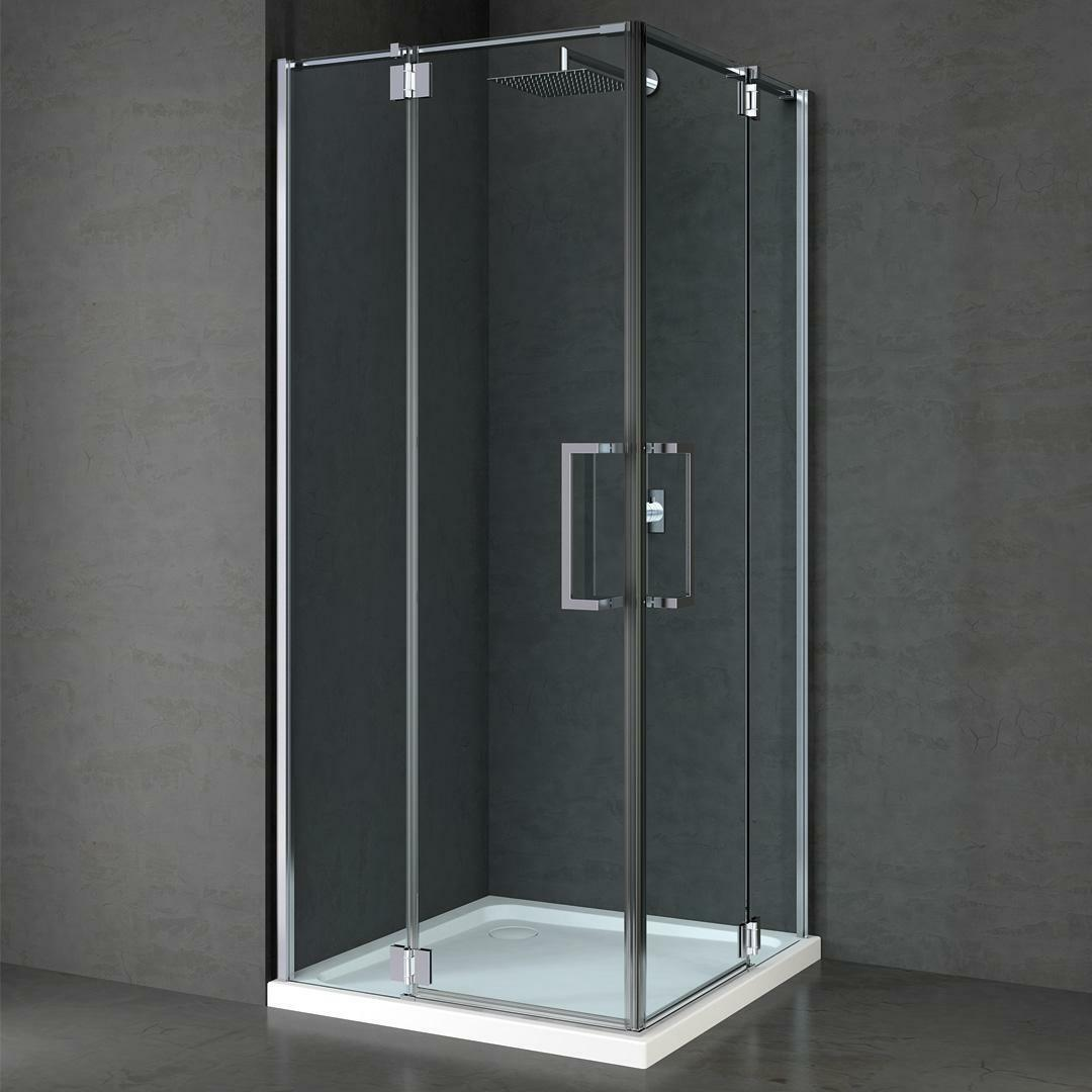 specialisti del bagno box doccia cannes doppia battente 8mm 90x120 reversibile trasparente specialistidelbagno