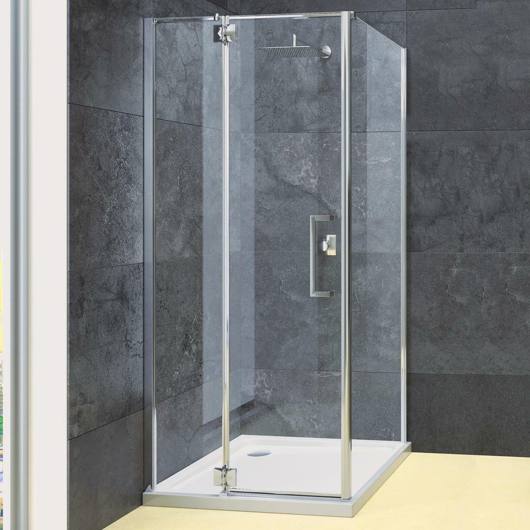 specialisti del bagno box doccia cannes angolo battente e fisso 8mm 80x80 reversibile trasparente specialistidelbagno