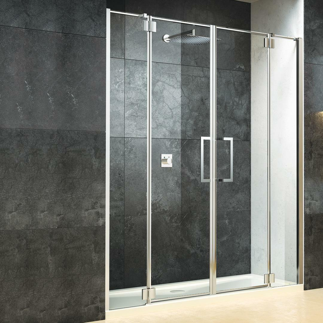 specialisti del bagno box doccia cannes nicchia doppia porta battente 150 reversibile trasparente 8mm specialistidelbagno