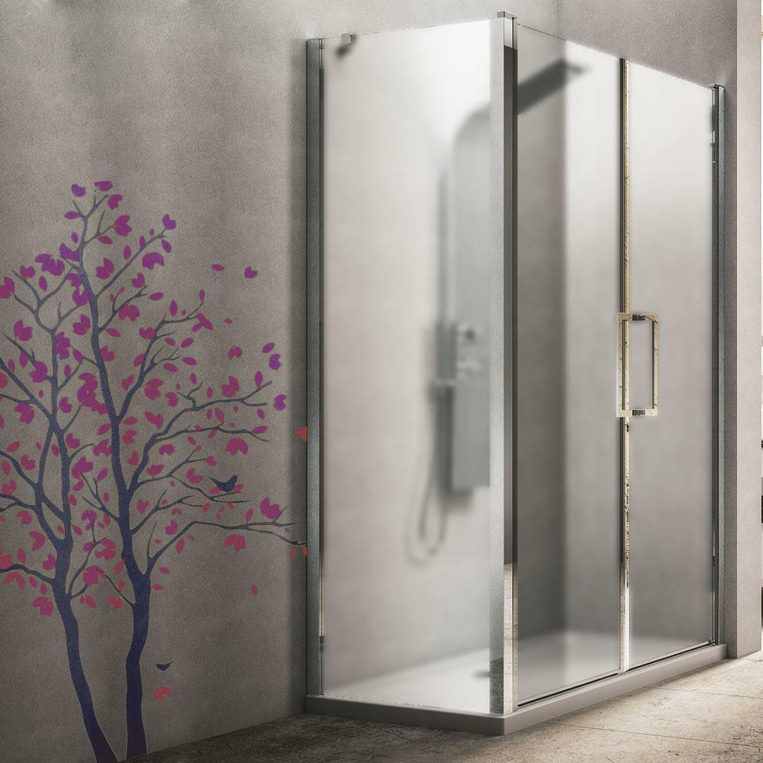 specialisti del bagno box doccia minori porta saloon ad angolo 70x100 reversibile crepe' specialistidelbagno