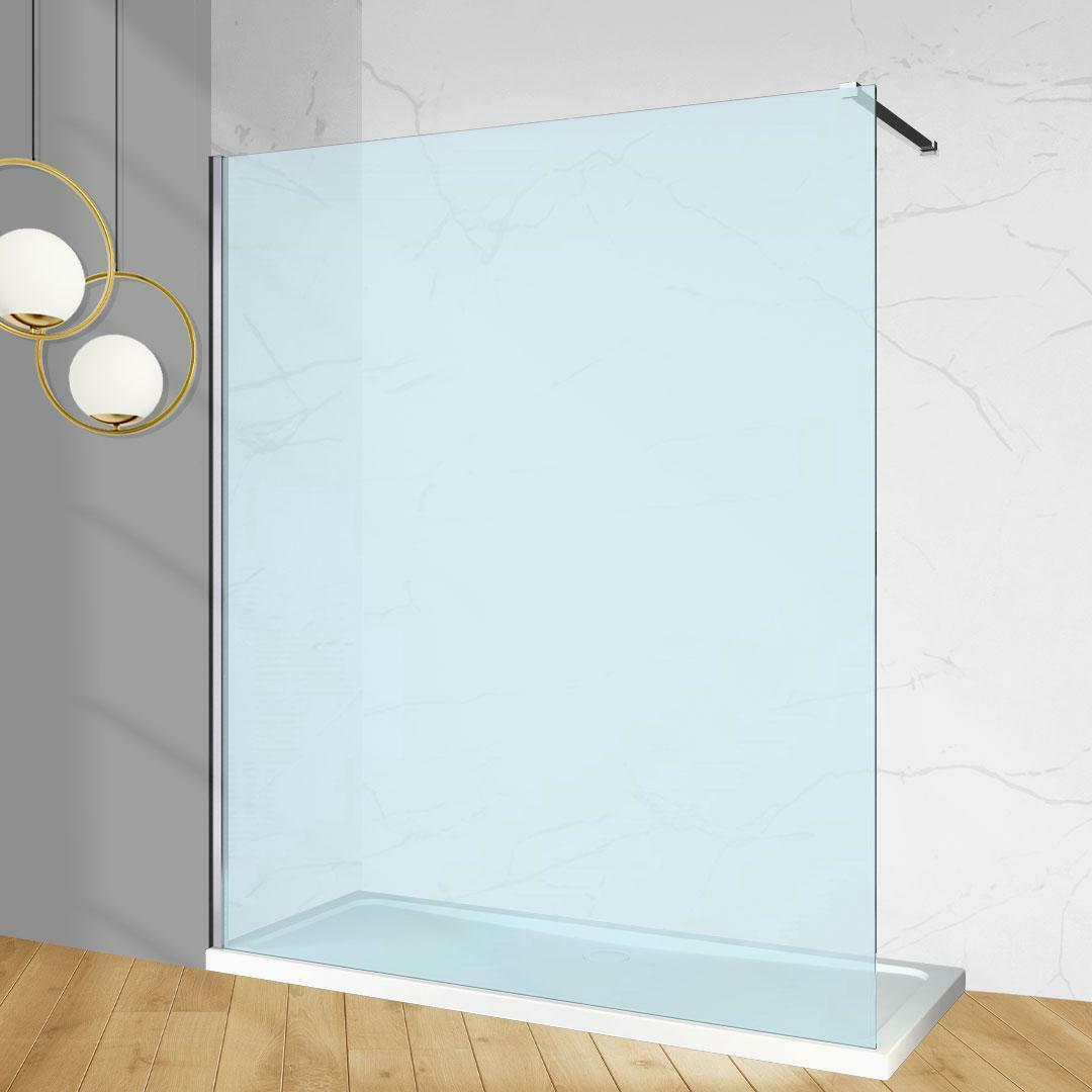 specialisti del bagno box doccia cannes parete fissa walk-in angolare 80 reversibile trasparente da 8mm specialistidelbagno