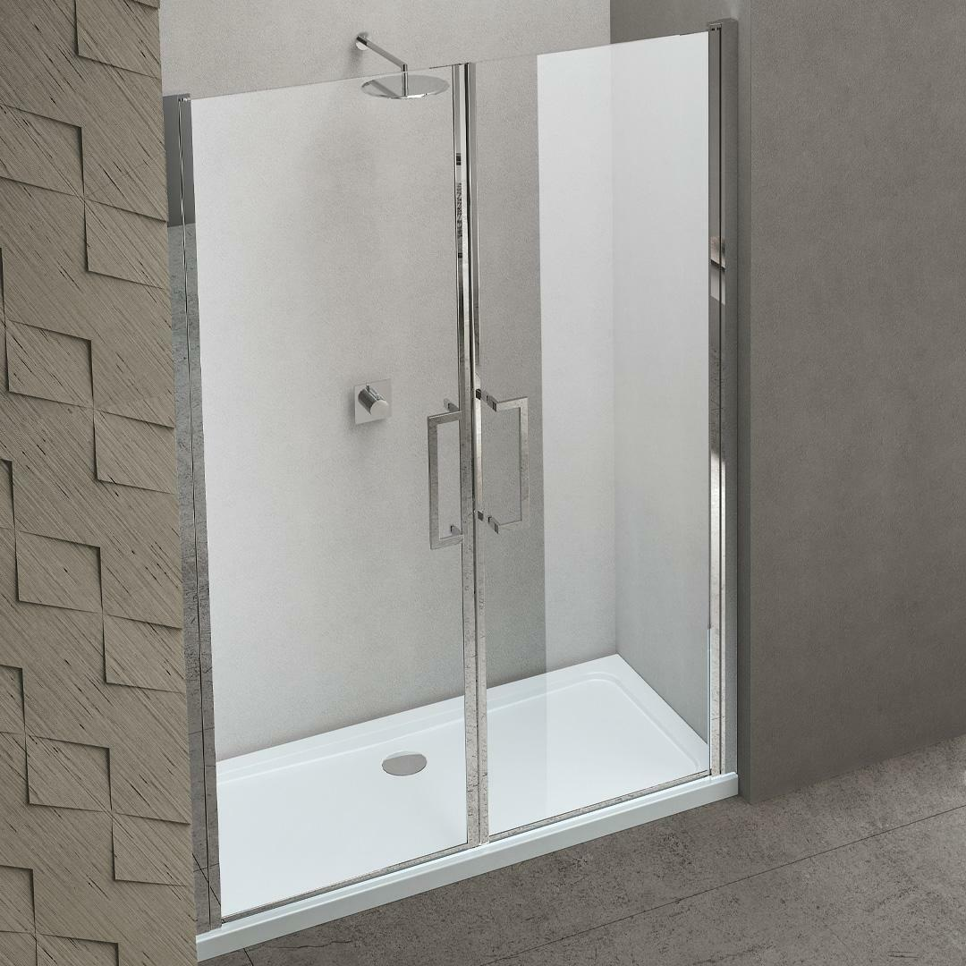 specialisti del bagno box doccia maiori porta saloon nicchia 150 reversibile trasparente 8mm specialistidelbagno