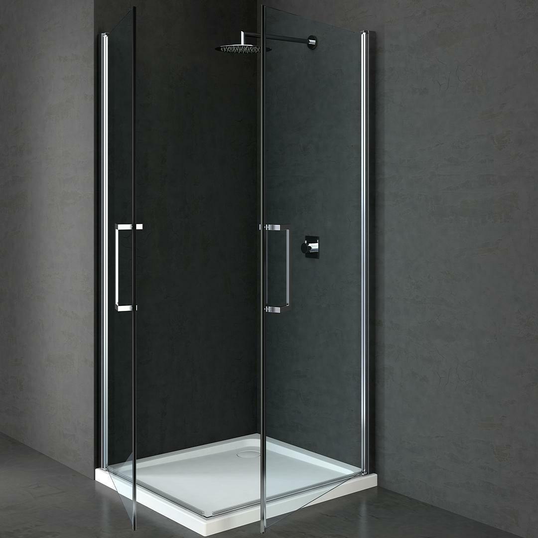 specialisti del bagno box doccia maiori doppia porta saloon 90x90 reversibile trasp. 8mm  specialistidelbagno