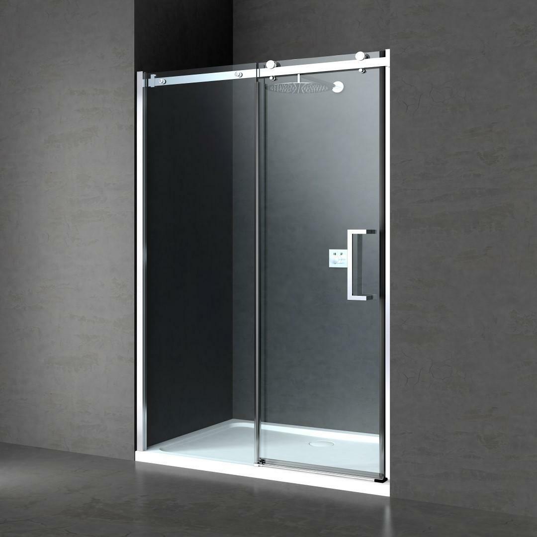 specialisti del bagno box doccia nizza porta nicchia 130 reversibile trasp. 8mm specialistidelbagno