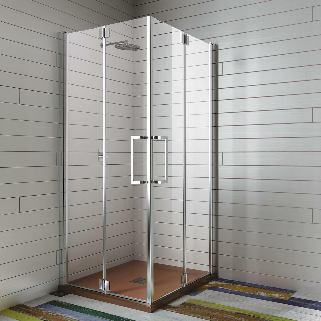 specialisti del bagno box doccia ostuni doppia porta libro 80x90 reversibile trasp. 8mm specialistidelbagno