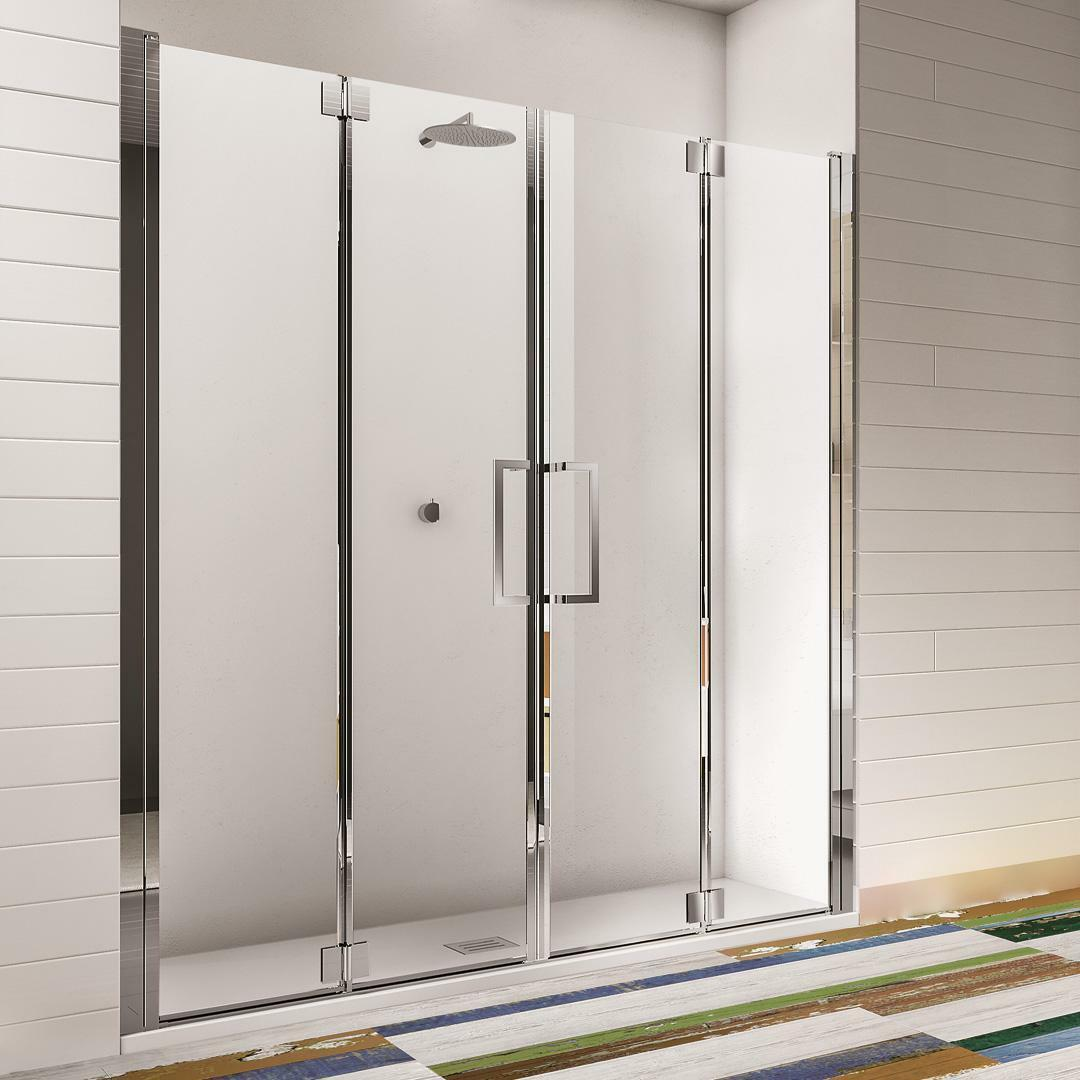 specialisti del bagno box doccia ostuni nicchia doppia porta libro 160 reversibile trasp. 8mm specialistidelbagno