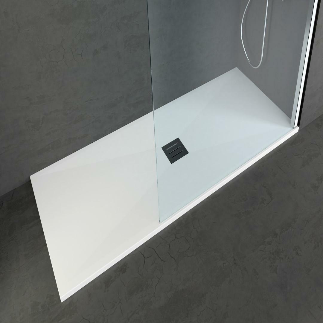 specialisti del bagno piatto doccia diamond flat senza bordo rettangolare 80x100 h4 specialistidelbagno