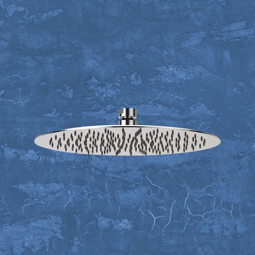 specialisti del bagno soffione ultraslim in  acciaio inox tondo diametro 30 cm specialistidelbagno