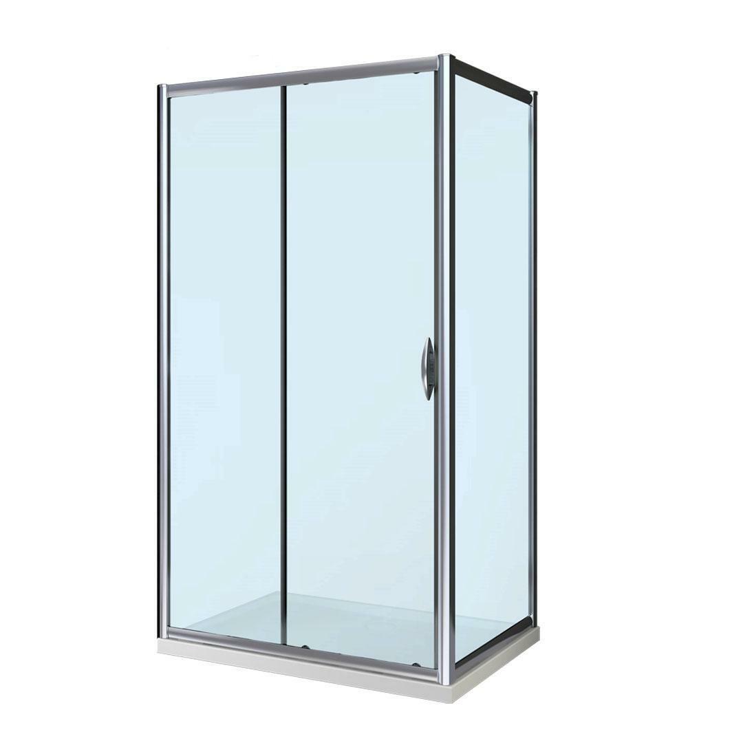 specialisti del bagno box doccia malaga porta scorrevole e lato fisso 80x150 reversibile trasp. specialistidelbagno