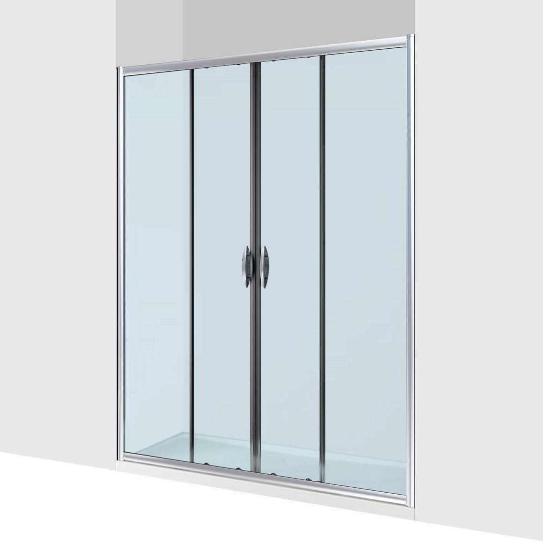 specialisti del bagno box doccia malaga doppia porta nicchia 200 reversibile trasp. specialistidelbagno