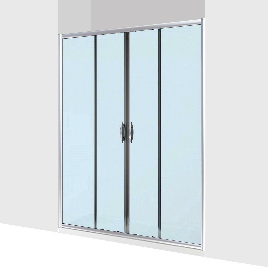 specialisti del bagno box doccia malaga doppia porta nicchia 160 reversibile crepé specialistidelbagno