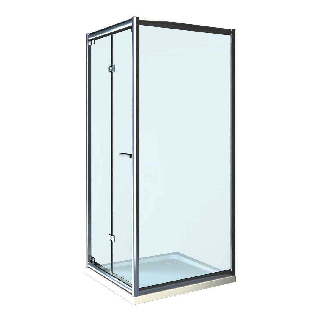 specialisti del bagno box doccia cipro porta libro e lato fisso 80x100 reversibile trasp. specialistidelbagno