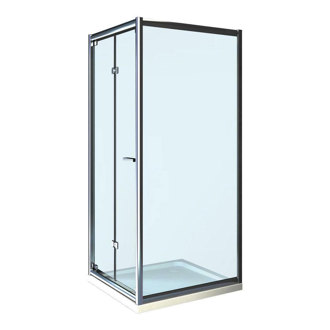 specialisti del bagno box doccia cipro porta libro e lato fisso 90x105 reversibile trasp. specialistidelbagno