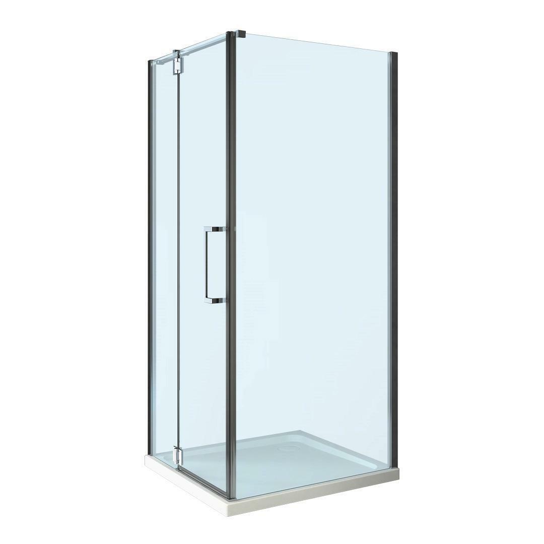 specialisti del bagno box doccia cannes angolo battente e fisso 8mm 90x110 reversibile trasparente specialistidelbagno