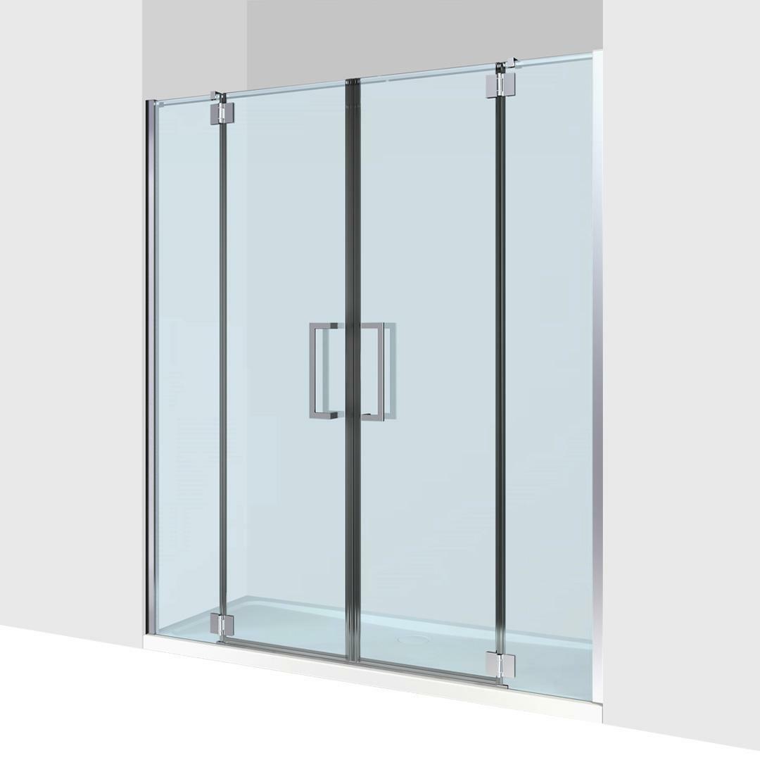 specialisti del bagno box doccia cannes nicchia doppia porta battente 140 reversibile trasparente 8mm specialistidelbagno