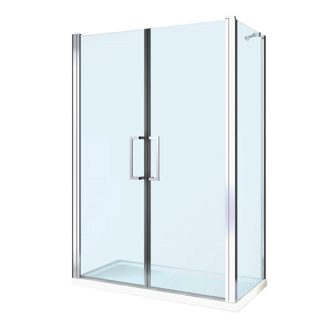 specialisti del bagno box doccia maiori porta saloon angolo 70x140 reversibile trasparente 8mm specialistidelbagno