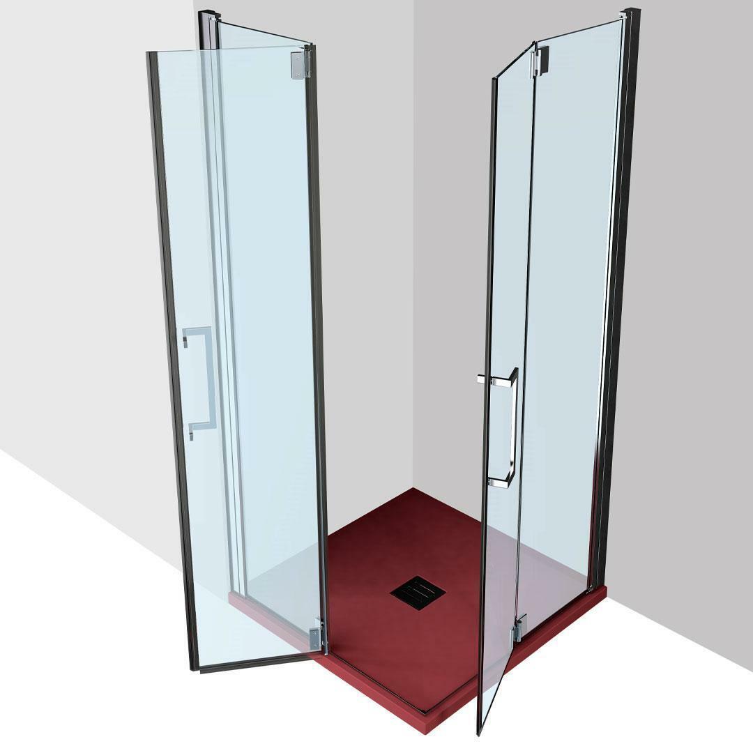 specialisti del bagno box doccia ostuni doppia porta libro 75x75 reversibile trasp. 8mm specialistidelbagno