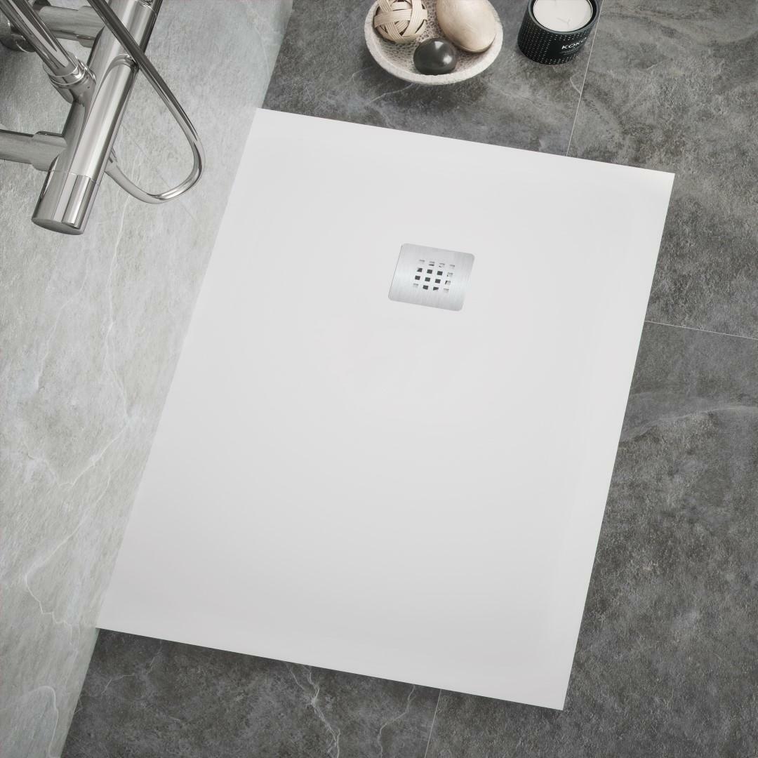 specialisti del bagno piatto doccia stone in marmoresina ultraflat senza bordo 80x160 h2,7 specialistidelbagno